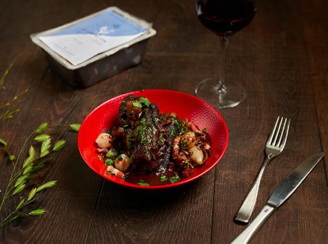 La Cuisine des Belles Volailles - Chef Antoine Westermann - [SURGELE] Coq au Vin, Race Gauloise  - 2 personnes