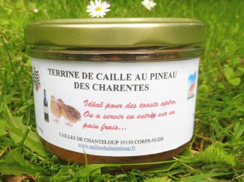 Cailles de Chanteloup - Terrine De Caille Au Pineau Des Charentes (190gr)
