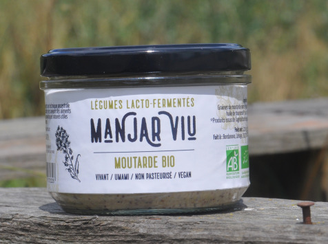 Manjar Viu : Légumes lacto fermentés - Moutarde bio lacto fermentée -220 g