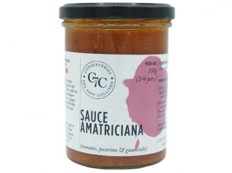 Conserveries des Sept Collines - Sauce Amatriciana : Tomates, Pécorino et Guanciale - 350g