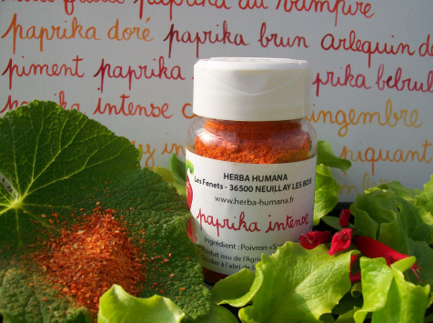 HERBA HUMANA - Paprika Intense Bio Cultivé en France 35 g