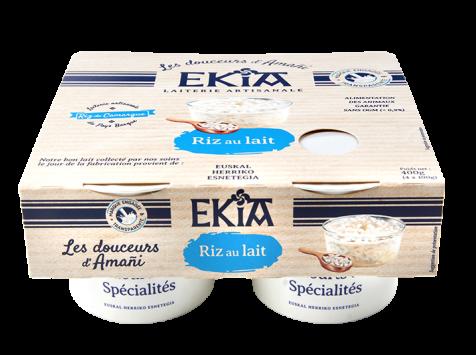 Bastidarra – Ekia - Riz au lait nature  4*100gr