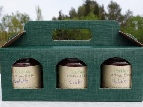Le Ziboud'Terre - Producteur de figues - Coffret Cadeau ConFigue Violette BIO 200 g - 3 pots