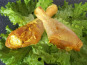 Les Volailles Fermières de Chambon - Demi Cuisses de Volailles marinées au gingembre et au curcuma 1 kg